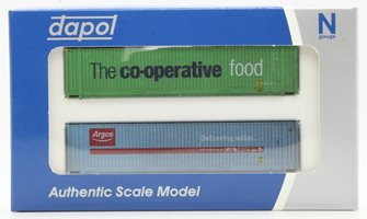 45 Foot Container Twin Pack Co-op & Argos Weathered