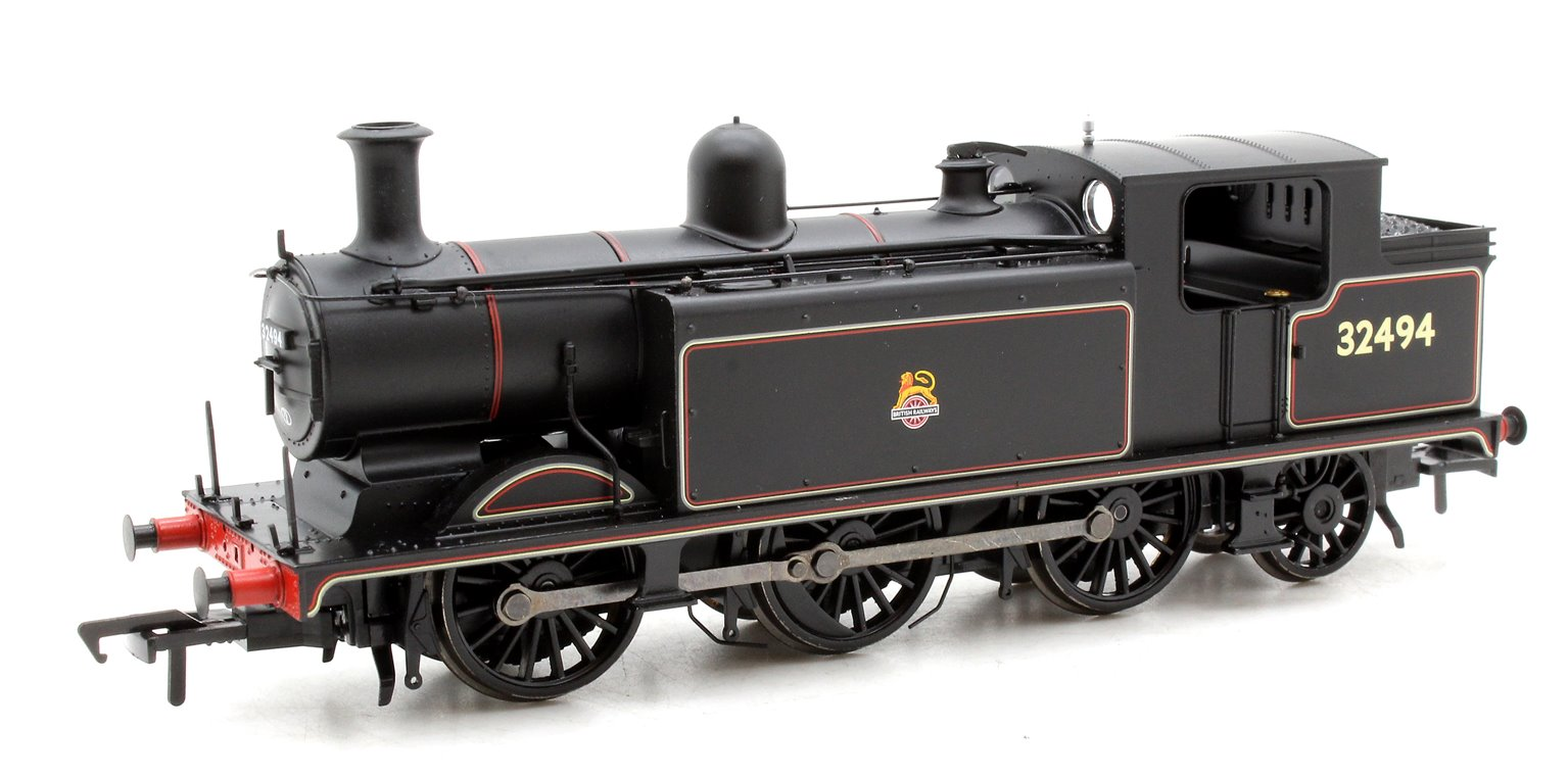 Class E4 BR Lined Black Early Emblem 0-6-2 Tank Locomotive 32494