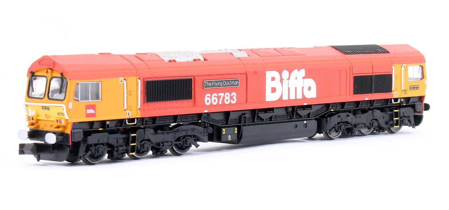 GB Railfreight Class 66783 The Flying Dustman Biffa Livery