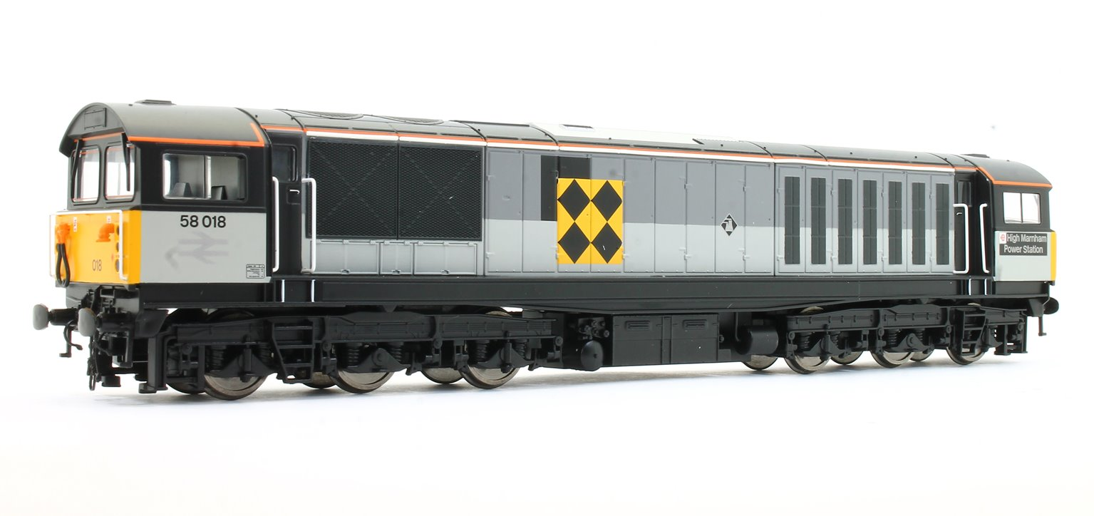 Class 58 58018 'High Marnham Power Station' BR Railfreight Coal Sector Diesel Locomotive