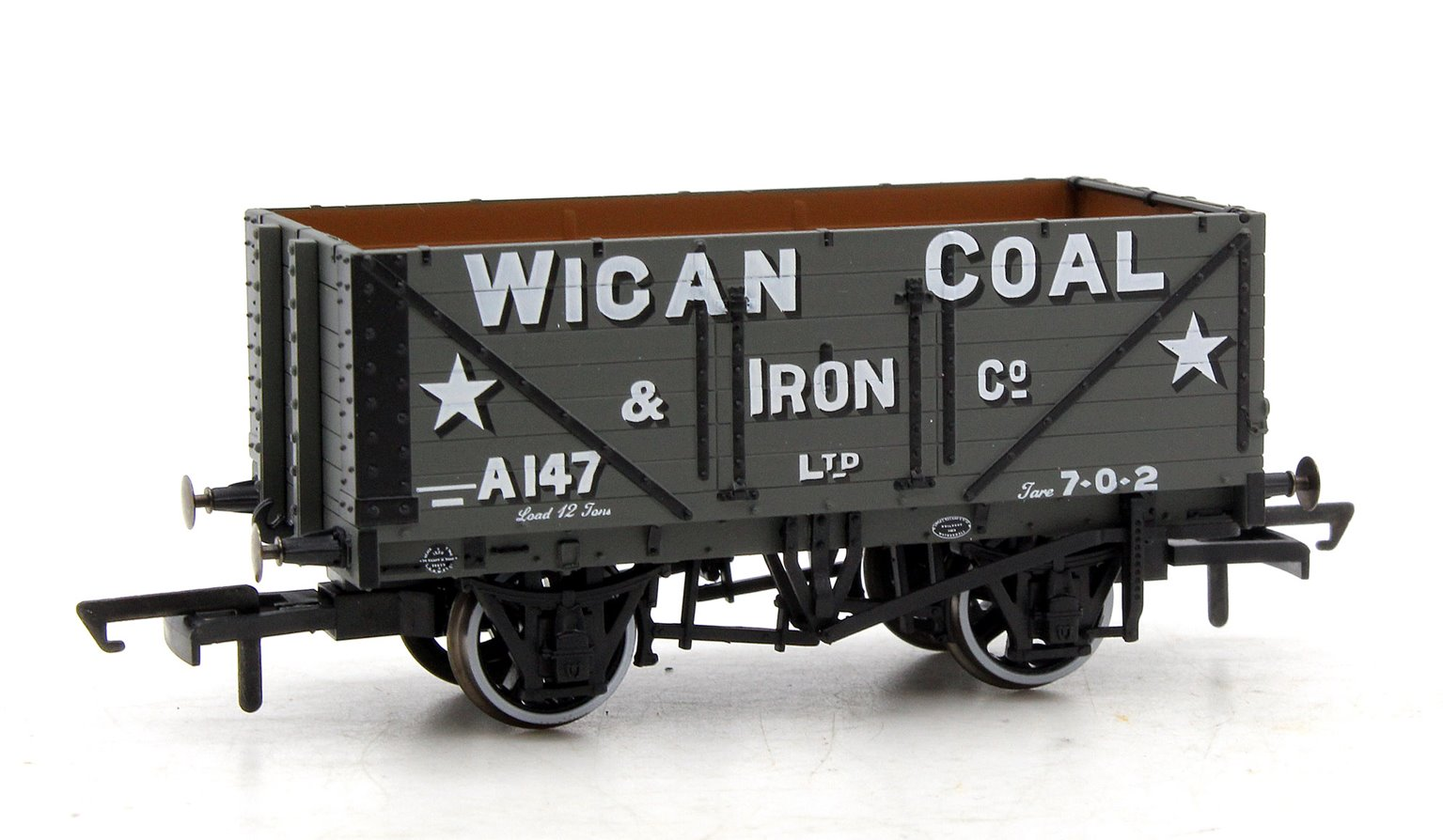 7 Plank Mineral Wagon - Wigan Coal & Iron Co A147