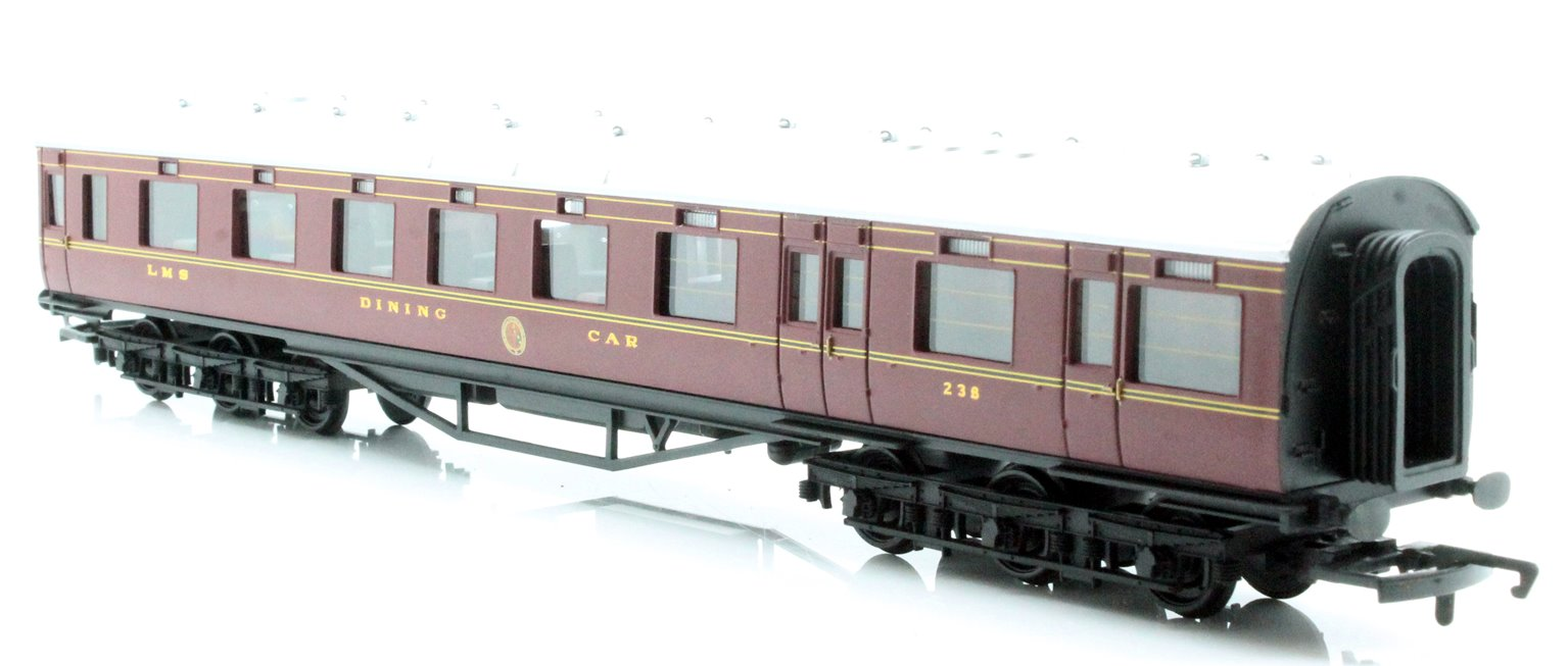 LMS 68' Dining/Restaurant Car '238', Crimson Lake