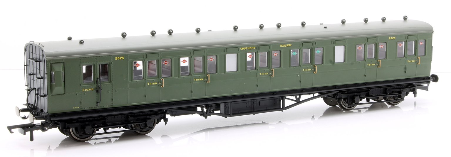 SR, 58' Maunsell Rebuilt (Ex-LSWR 48'), Six Compartment Brake Third, 2625