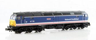 N Scale Class 47/7 47715 'Haymarket' BR Network SouthEast