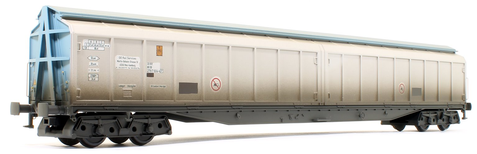 Cargowaggon 279-7-604-6 Silver & Blue Unbranded (Weathered Edition)