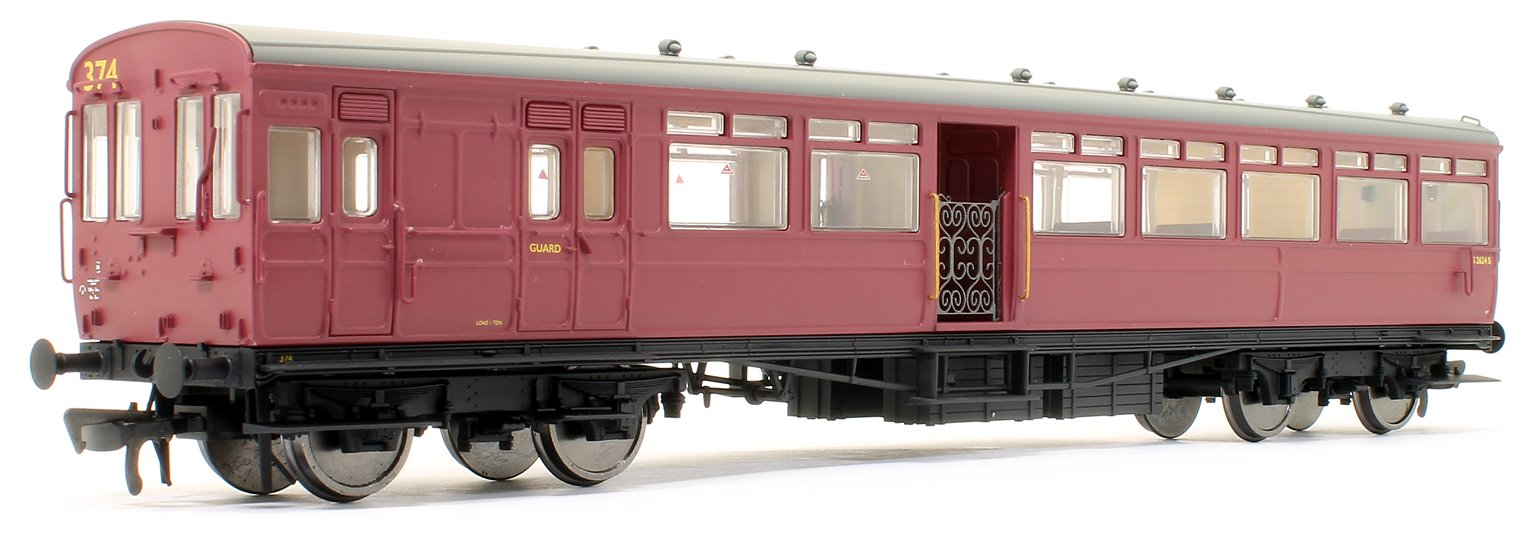 LSWR 'Gate Stock' 2-Coach Set BR Crimson