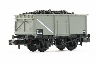BR 16T Steel Mineral Wagon With Bottom Doors BR Grey (Early) with Wagon Load