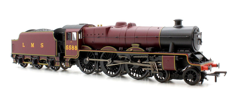 Jubilee Class 'Kashmir' LMS Crimson (Welded Stanier tender) 4-6-0 Loco 5588 (DCC Sound)