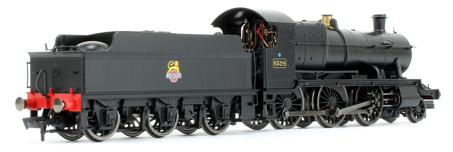 GWR Mogul 2-6-0 Locomotive #6324 in BR Black with early Lion & Wheel Crest - DCC Fitted