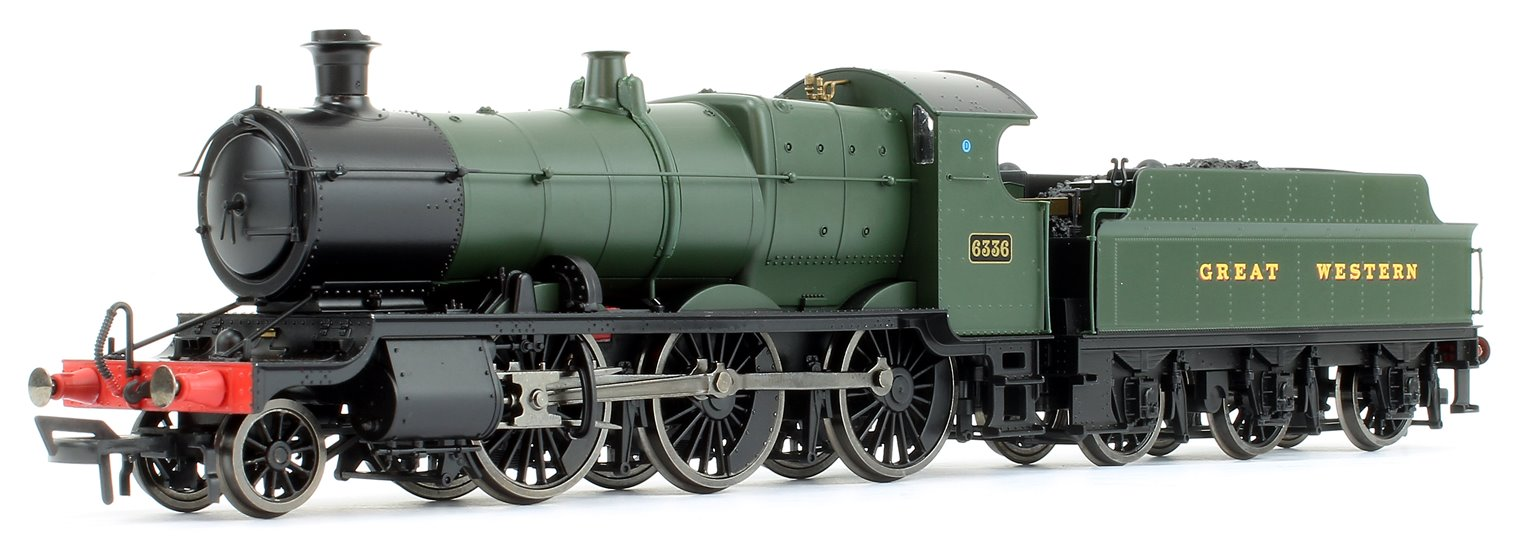 "GWR Mogul 2-6-0 Locomotive #6336 in Green, lettered ""Great Western"""