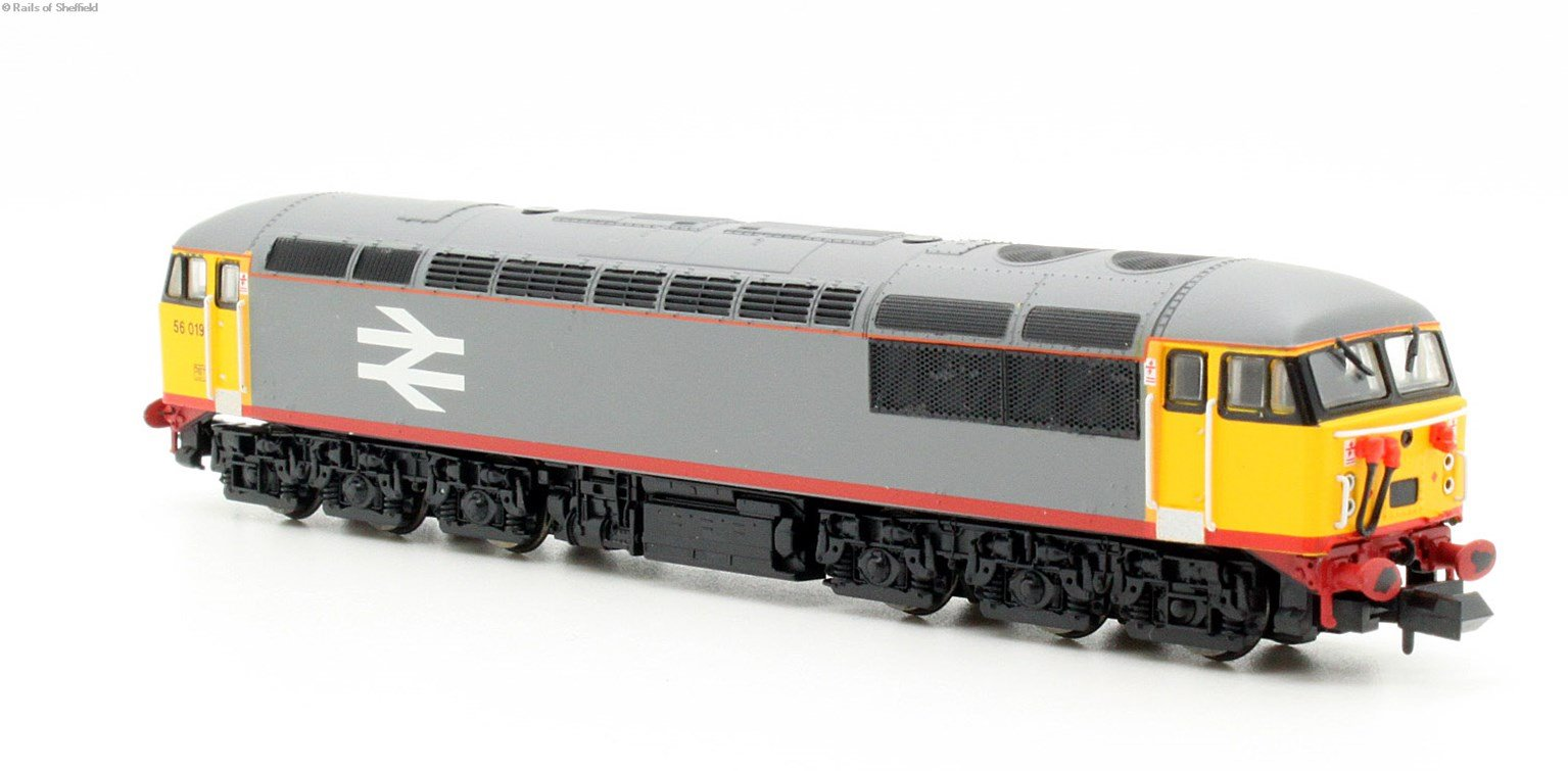 Class 56 diesel locomotive 56019 in Railfreight red stripe. DCC Fitted