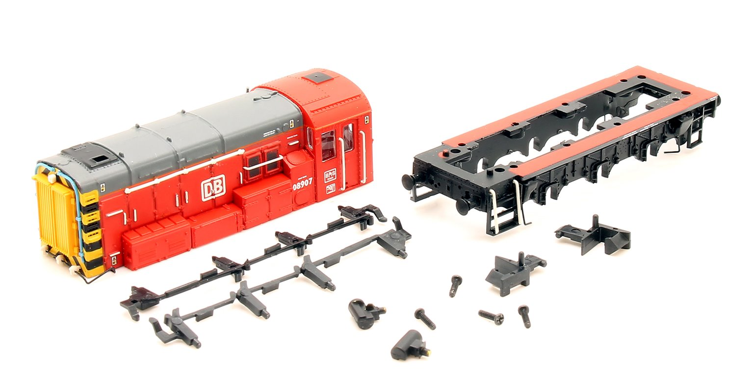N Gauge Class 08 907 DB Schenker Diesel Shunter Locomotive - **LOCO BODY ONLY**