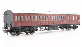 LMS Period III 57' Non-Corridor Third Class Brake Coach No.20755