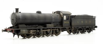 Custom Finished Class Q6 Raven LNER Black 0-8-0 Locomotive 3418 Weathered