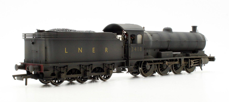 Custom Finished Class Q6 Raven LNER Black 0-8-0 Locomotive 3418 Weathered