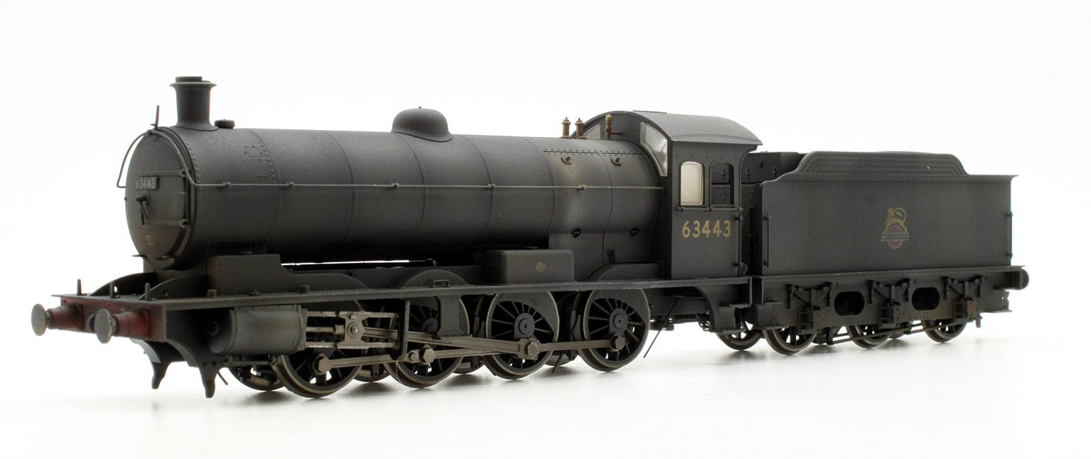 Custom Finished Class Q6 Raven BR Black (Early) 0-8-0 Locomotive 63443 Weathered