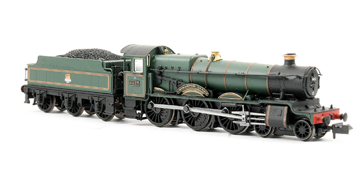 "Class 6800 4-6-0 6837 ""Forthampton Grange"" in BR lined green with early emblem"