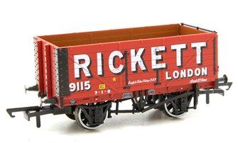 7 Plank Mineral Wagon Rickett 3 Disc Wheels