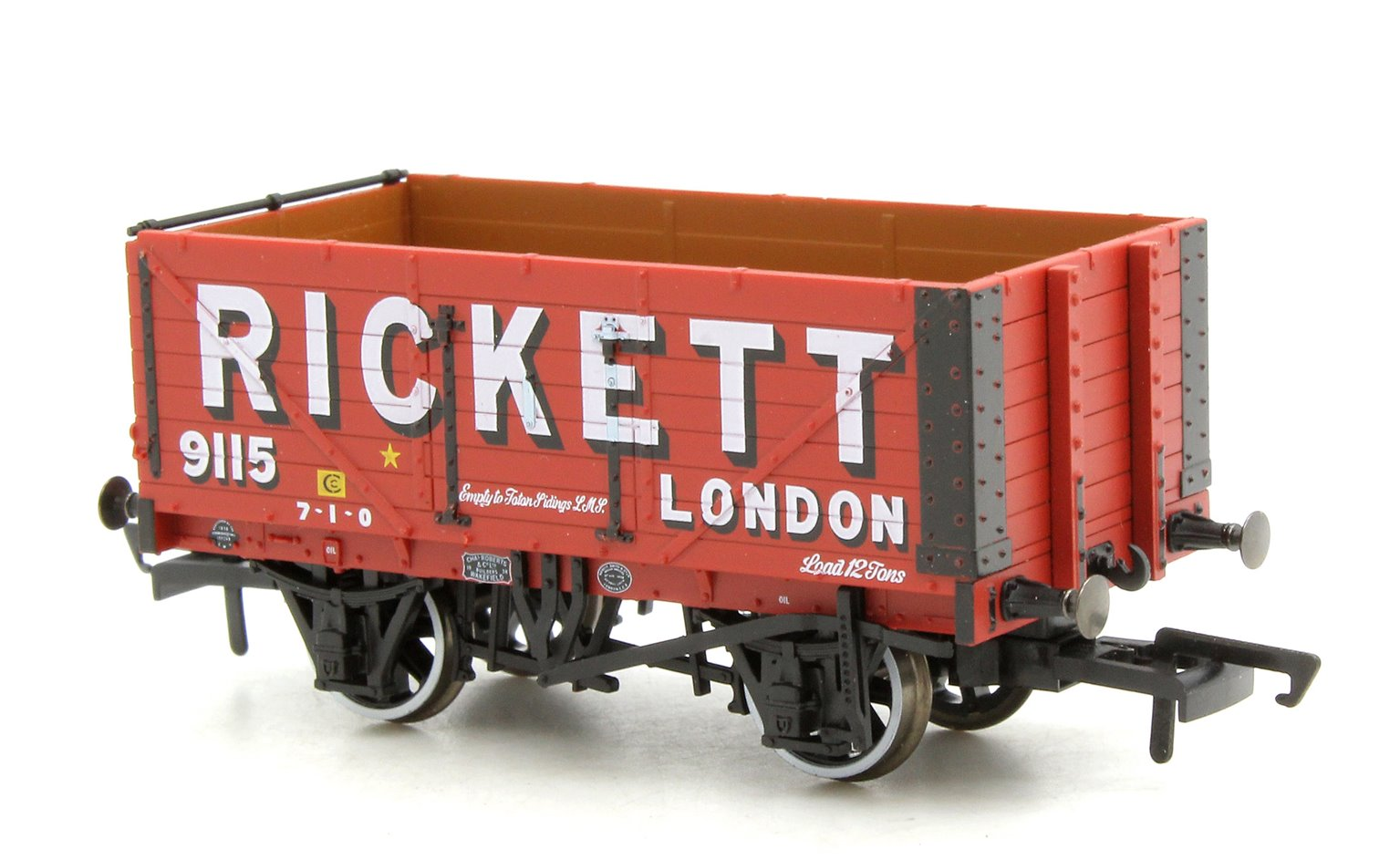 7 Plank Mineral Wagon Rickett 3 Disc Wheels