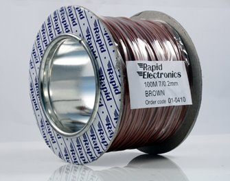 100M 7/0.2MM Brown Electrical Wire