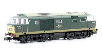 Class 35 Hymek #D7024 Two Tone Green Powered Weathered - DCC Fitted