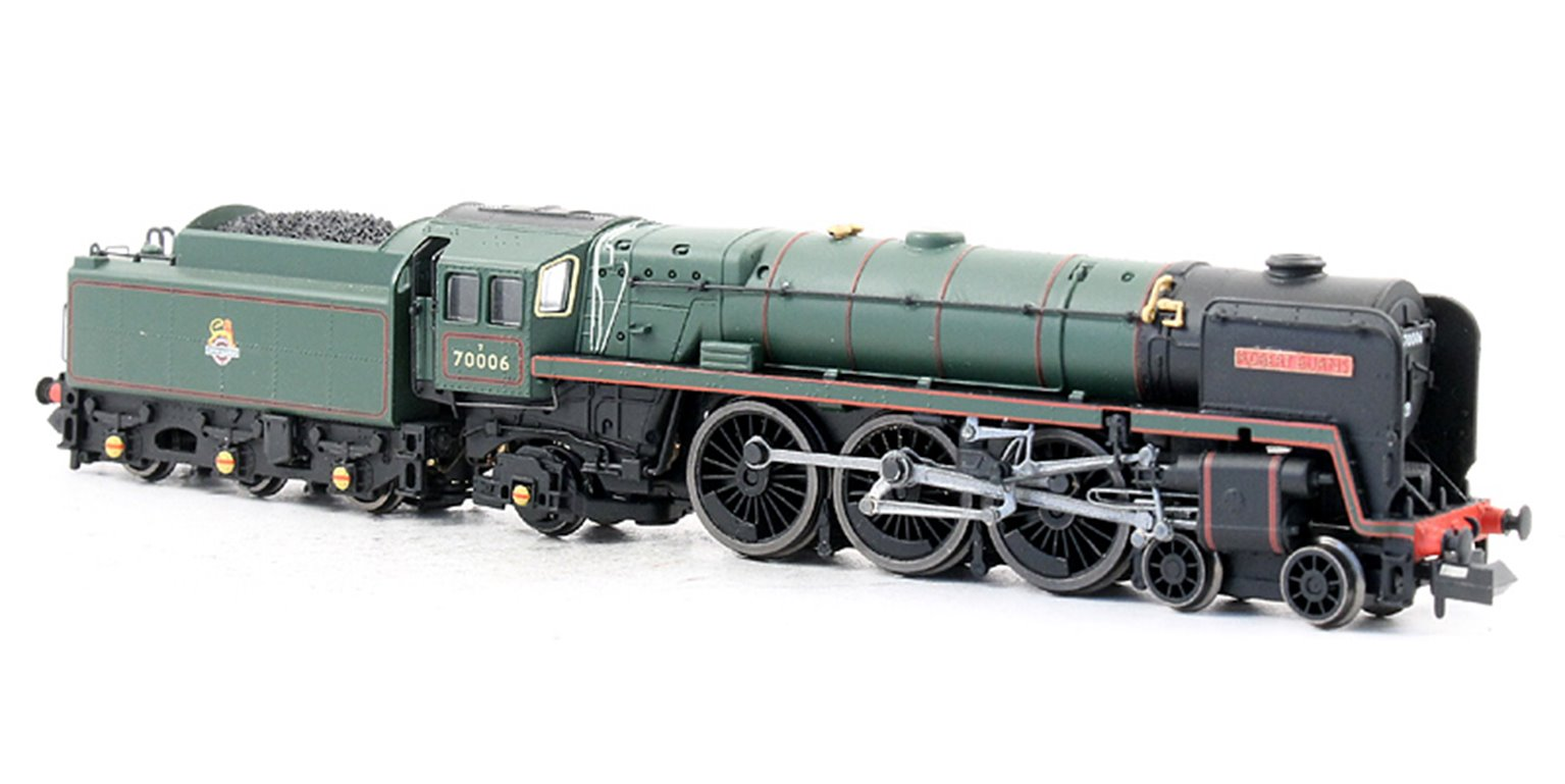 "Class 7MT Britannia 4-6-2 #70006 ""Robert Burns"" in BR green with early crest - DCC Fitted"