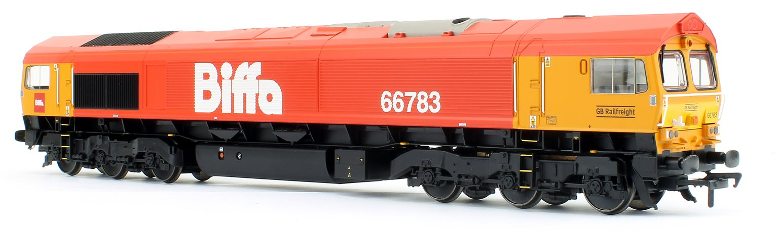 Class 66/7 66783 'The Flying Dustman' GBRf 'Biffa' Red