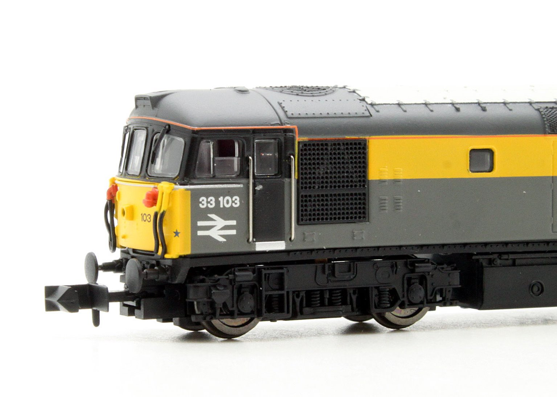 Class 33 103 Engineers Grey/Yellow 'Dutch' Diesel Locomotive