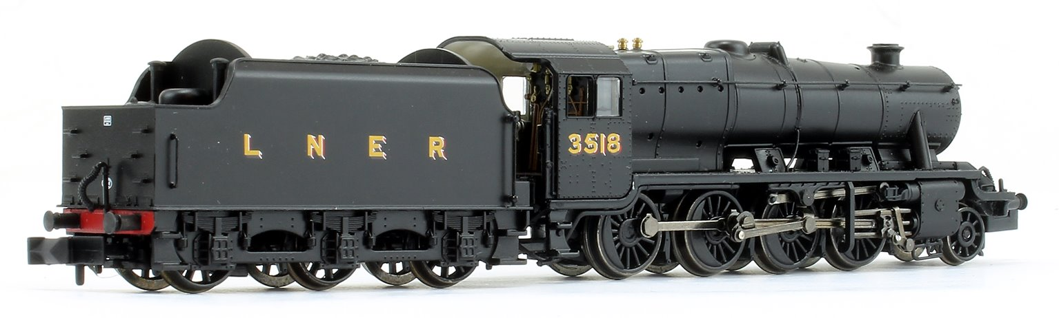 LNER O6 (8F) LNER Black (LNER Revised) 2-8-0 Steam Locomotive No. 3518