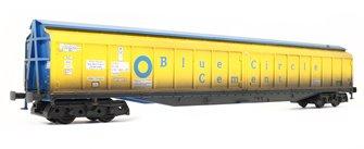 Cargowaggon IWB Bogie Van Blue Circle Cement 2797 683 - Weathered