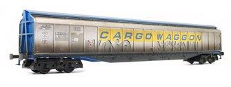 Cargowaggon IWB Bogie Van Silver/Blue 2797 598 - Weathered