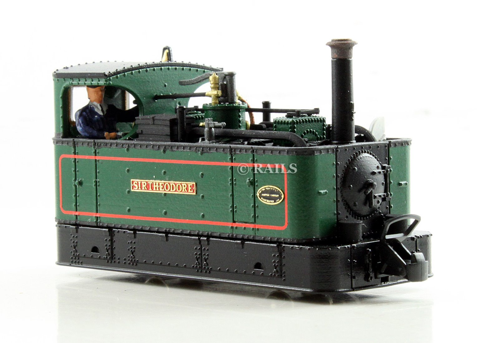 FOURDEES LIMITED OO9 SCALE 41-201 'SIR THEODORE' GREEN GLYN VALLEY TRAMWAY LOCO