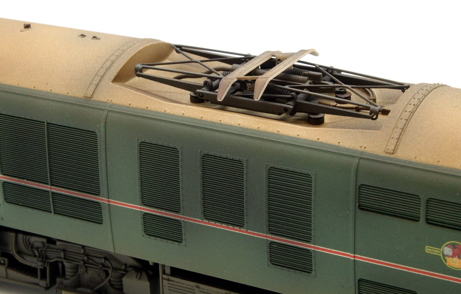 Custom Finished Class 71 - E5001 BR Green Locomotive Weathered