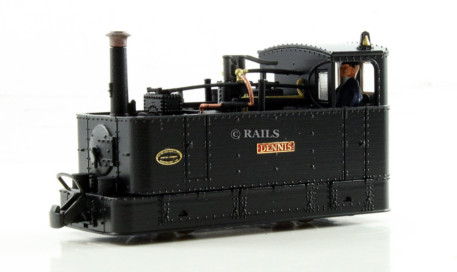 FOURDEES LIMITED OO9 SCALE 42-204 'DENNIS' c1930 BLACK GLYN VALLEY TRAMWAY LOCO