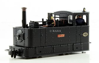 FOURDEES LIMITED OO9 SCALE 41-206 'GLYN' c1930 BLACK GLYN VALLEY TRAMWAY LOCO
