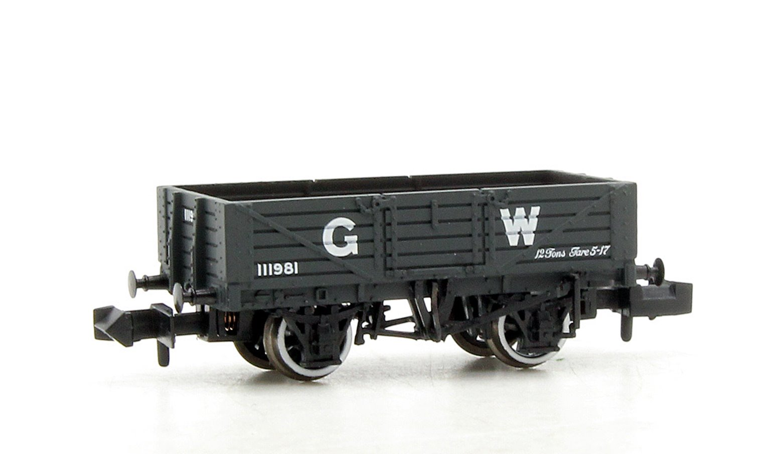 5 Plank Wooden Floor Wagon GWR Grey with Load