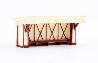 N Scale Wooden Station Waiting room
