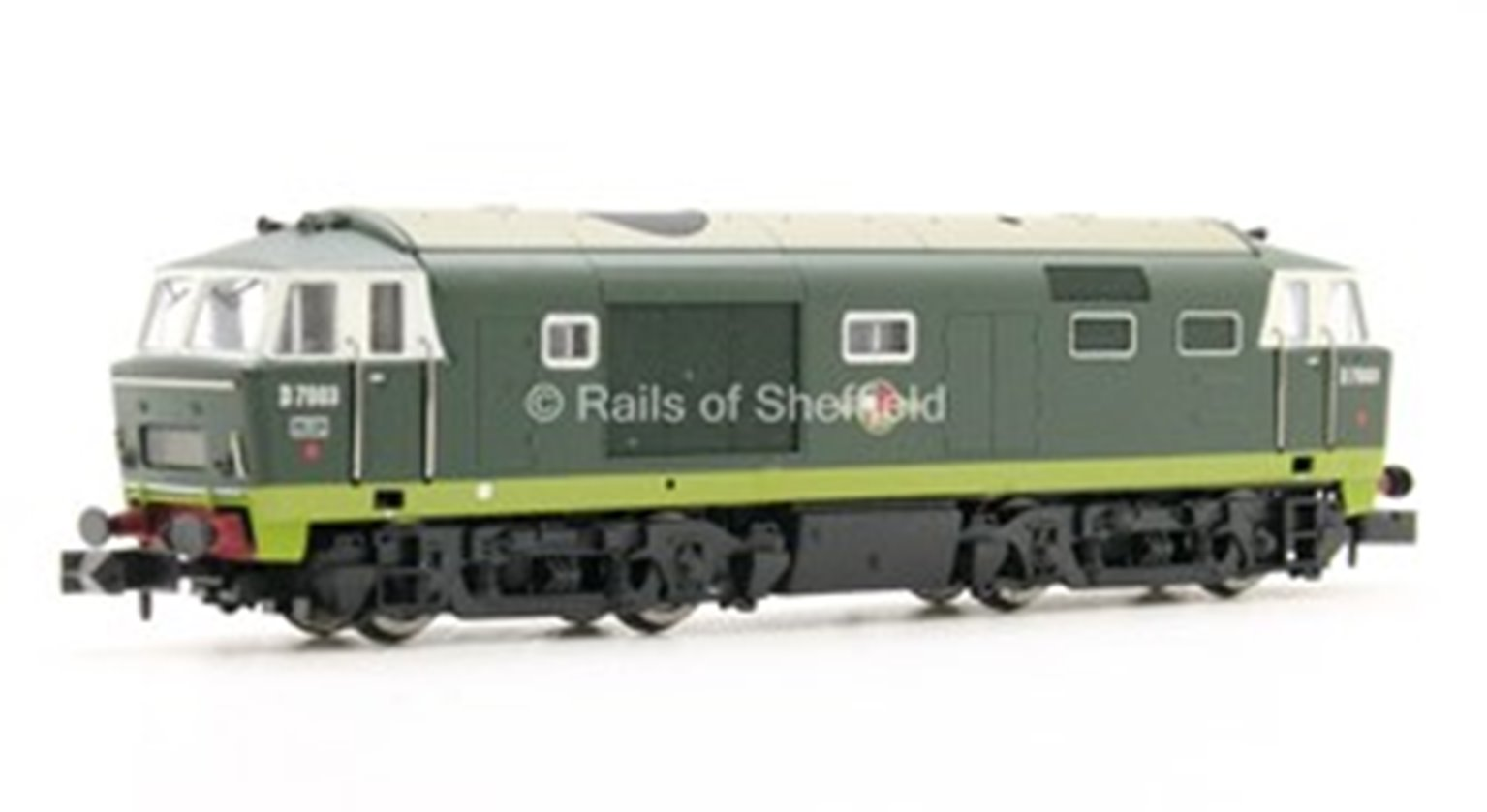 Hymek D7003 Two Tone Green BR Late Crest - DCC Fitted