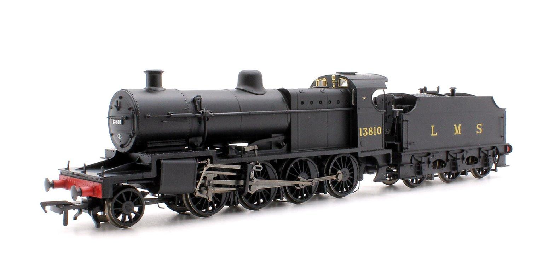Class 7F LMS Plain Black 2-8-0 Steam Locomotive #13810