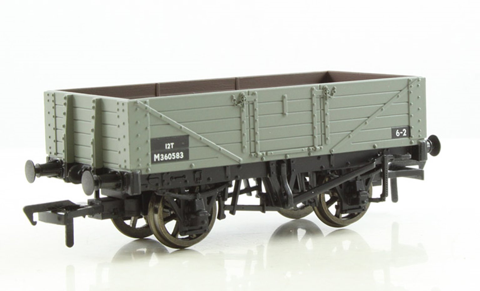 5 Plank Wagon Wooden Floor BR Grey