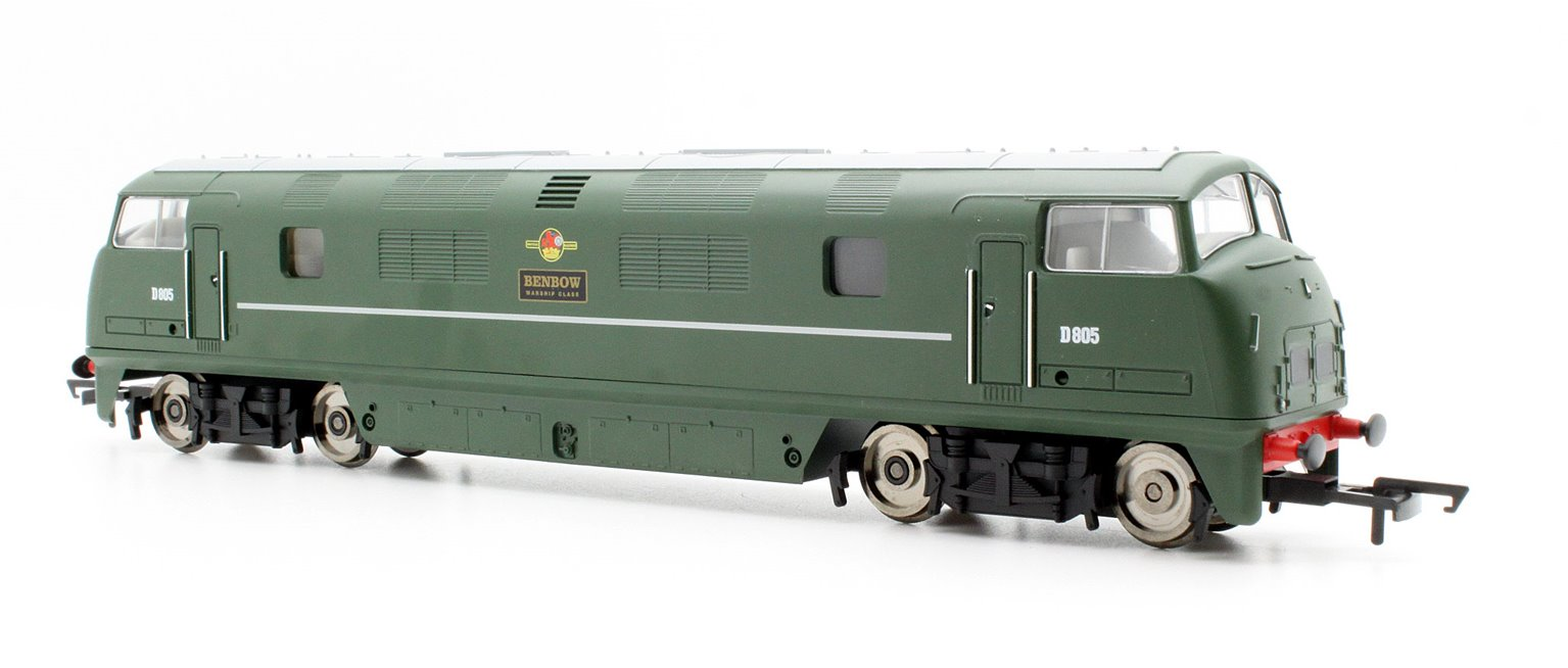 RailRoad BR Green 'BENBOW D805' Class 42 Warship Diesel Locomotive D805