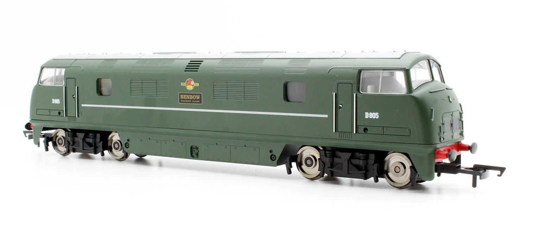 RailRoad BR Green 'BENBOW D805' Class 42 Warship Diesel Locomotive D805