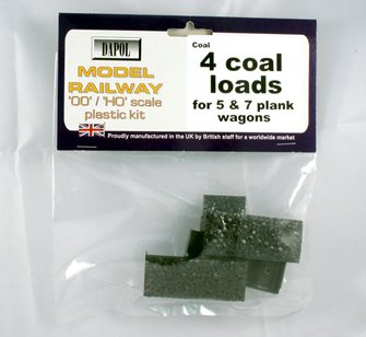 4 Coal Loads for 5/7 Plank Wagons