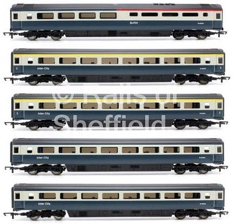 Set of 5 BR Intercity Blue/Grey MK3 Passenger Coaches