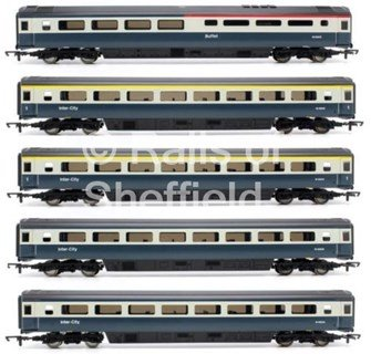 Set of 5 BR Intercity Blue/Grey MK3 Passenger Coaches