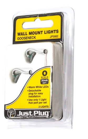 Gooseneck Wall Mount Lights - O Scale