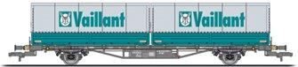 flat wagon, period IV, DB, Lgjs 571.1, 440 4 621-0, with 2 intermodal