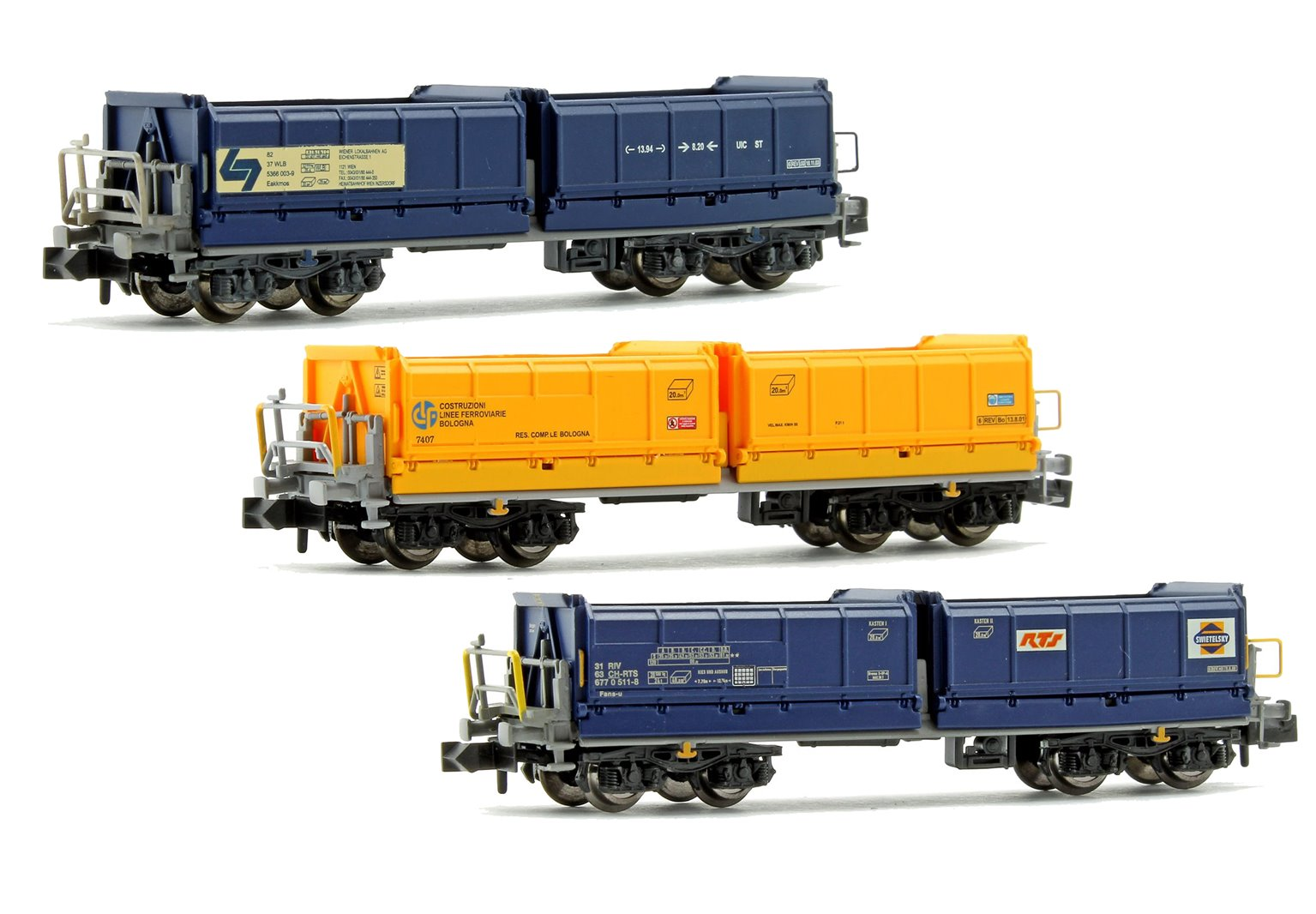 Set of 3 Assorted Tipper Wagons
