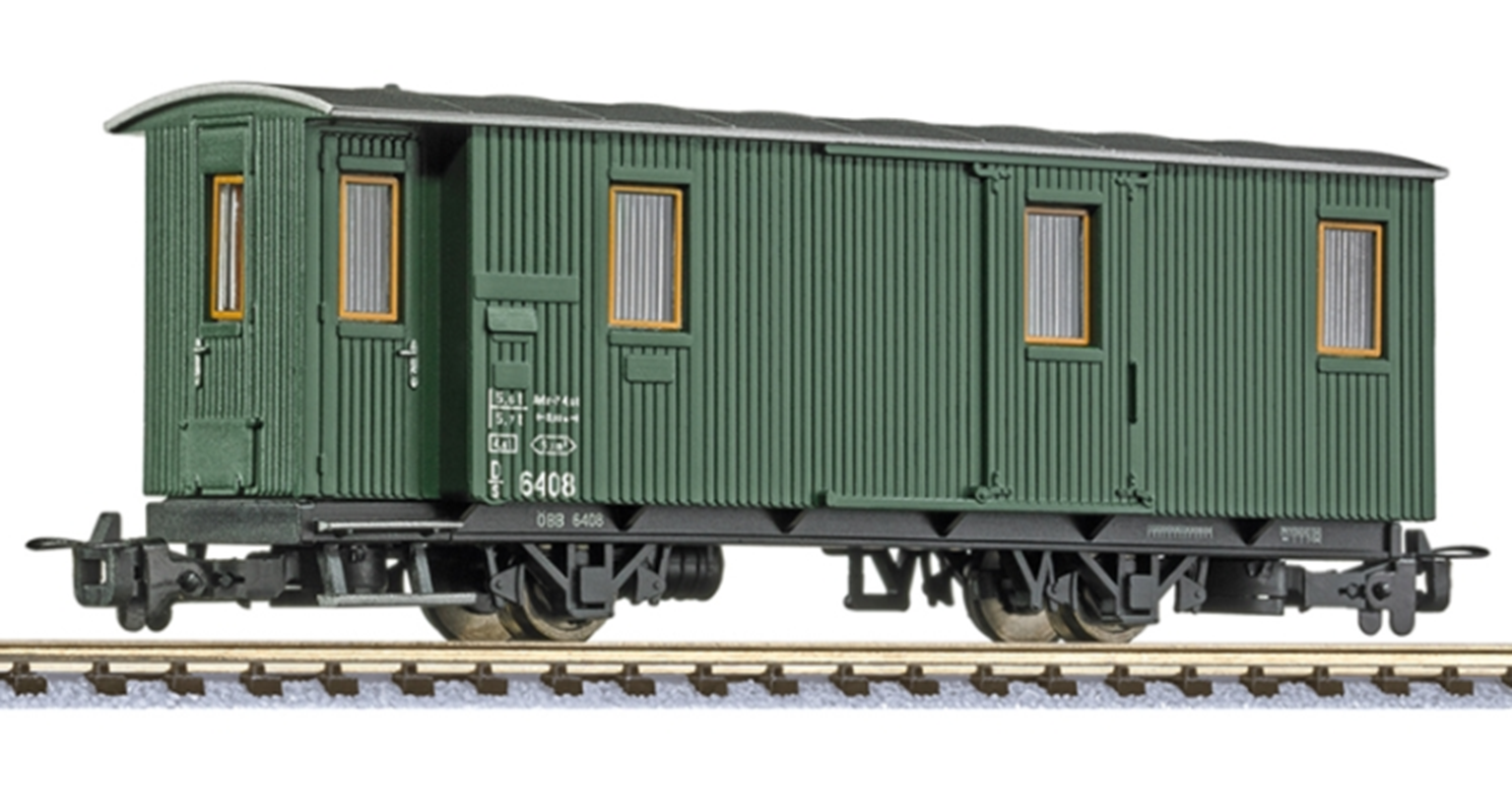 2-axle baggage car D/s 6408, green