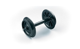 Solid Wheel Sets Plastic - 2 pieces